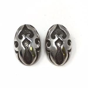 John Hardy Sterling Silver Oval Clip On Earrings